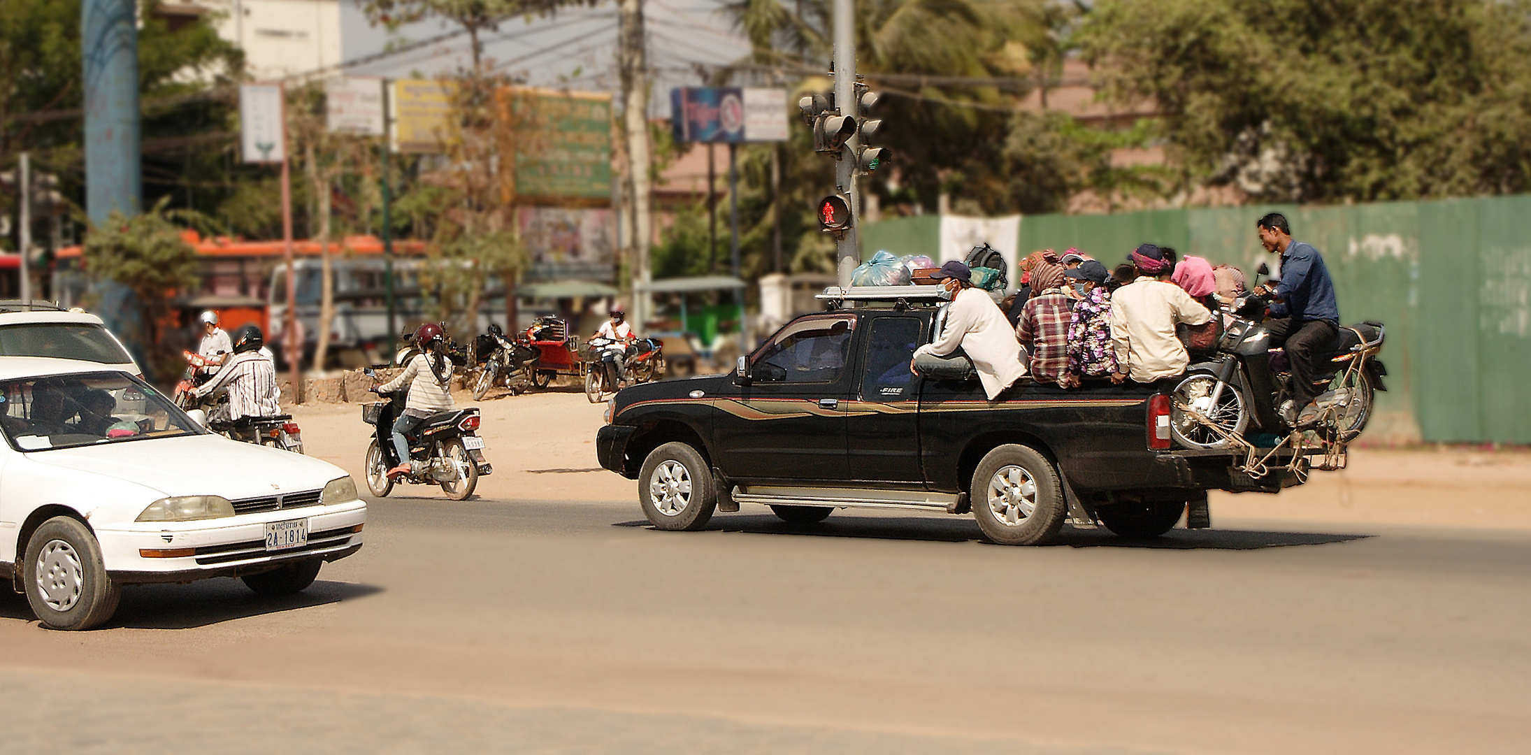 Fahrgemeinschaft in Siem Reap (Kambodscha)