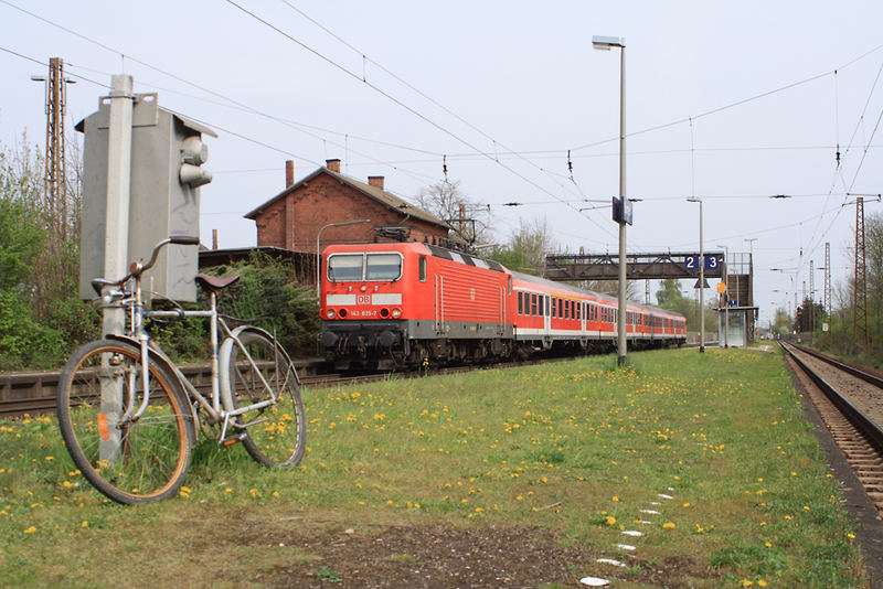 Fahrrad am Bahnhof
