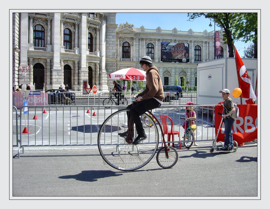 Fahrrad anno dazumal...