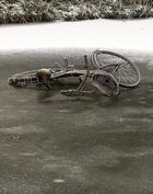 Fahrrad auf Eis