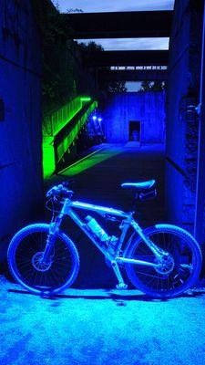 Fahrrad in blau