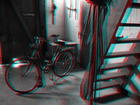 Fahrrad in der Diele