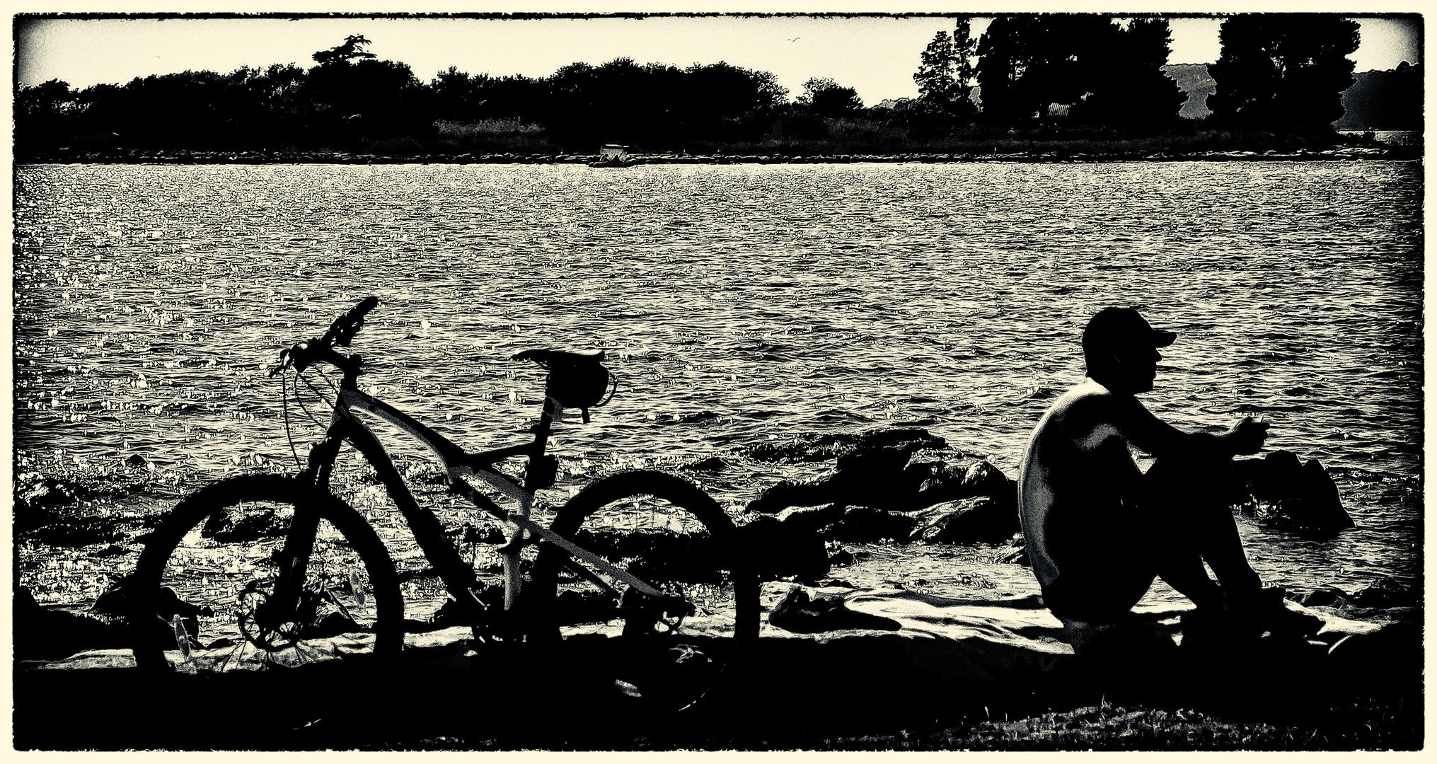 Fahrrad-Rast