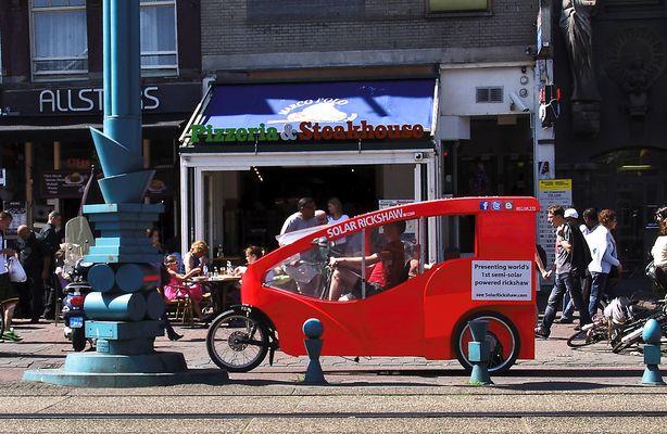 Fahrrad-Solar-Rikscha