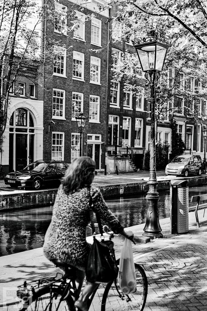 Fahrradfahren in Amsterdam