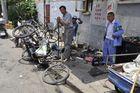 Fahrradreparaturwerkstatt in Shanghai