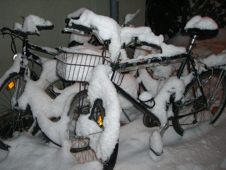 Fahrradschnee