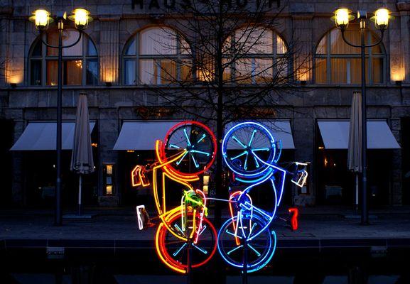 Fahrradskulptur am Potsdamer Platz in Berlin
