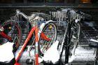 fahrräder im winter