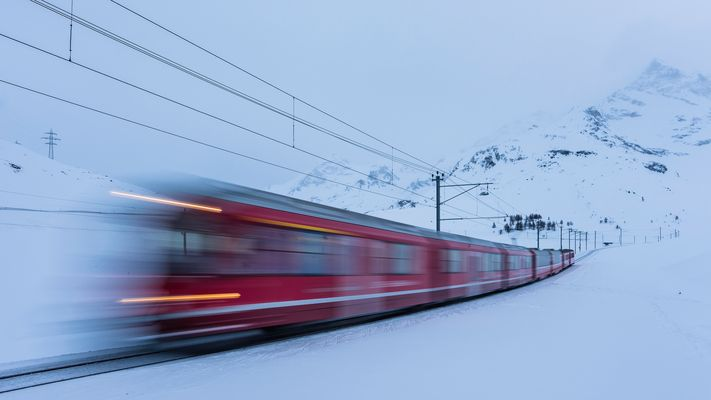 Fahrt durch den Winter
