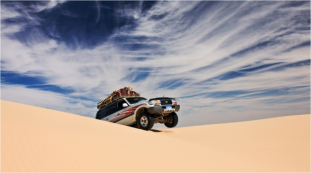 Fahrt durchs Große Sandmeer