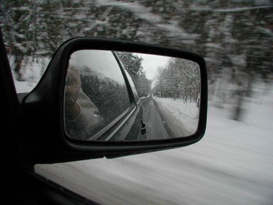 Fahrt im Winter