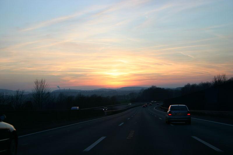 Fahrt in den Abend