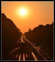 Fahrt in den Sonnenuntergang