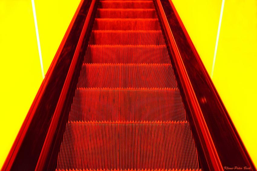 Fahrt mit der Rolltreppe