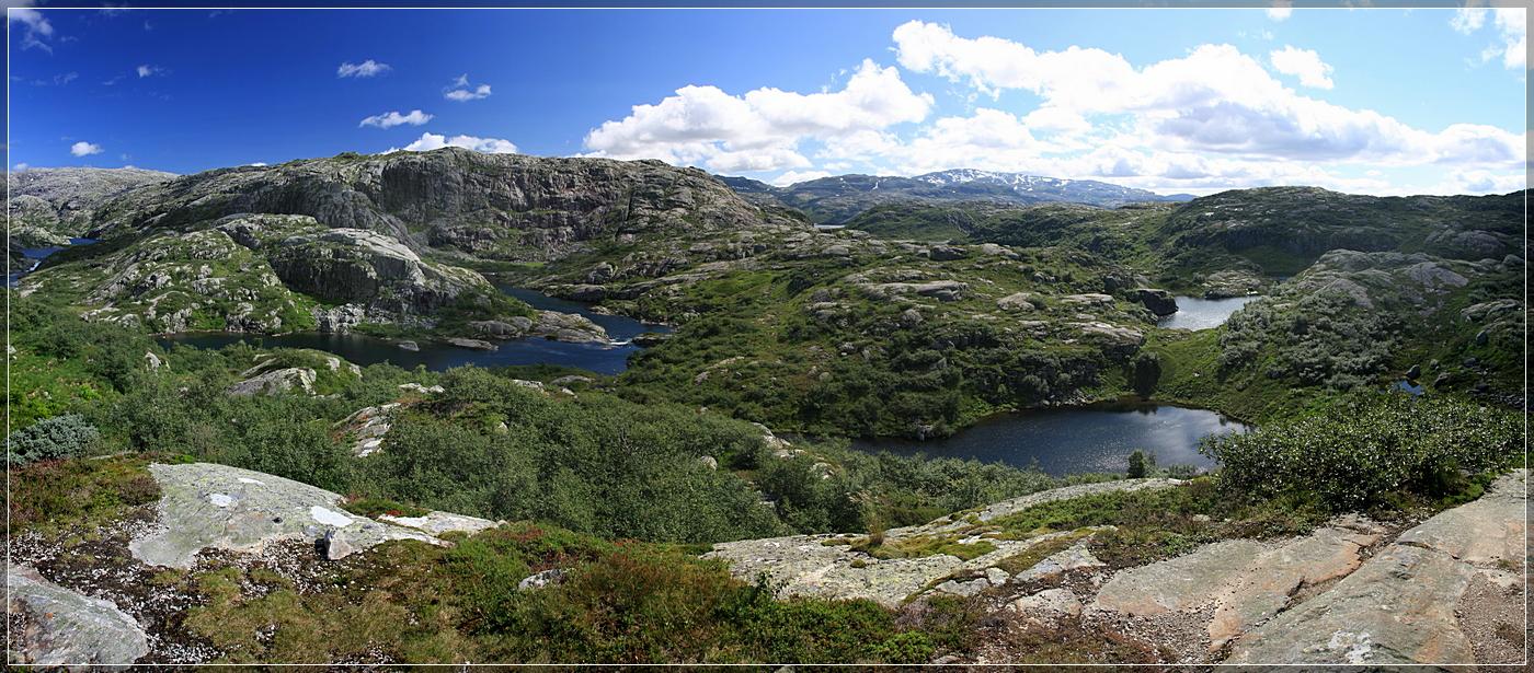Fahrt über das Fjell in Norwegen