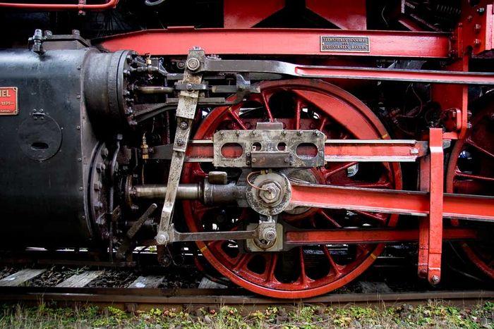 Fahrwerk einer Dampflok