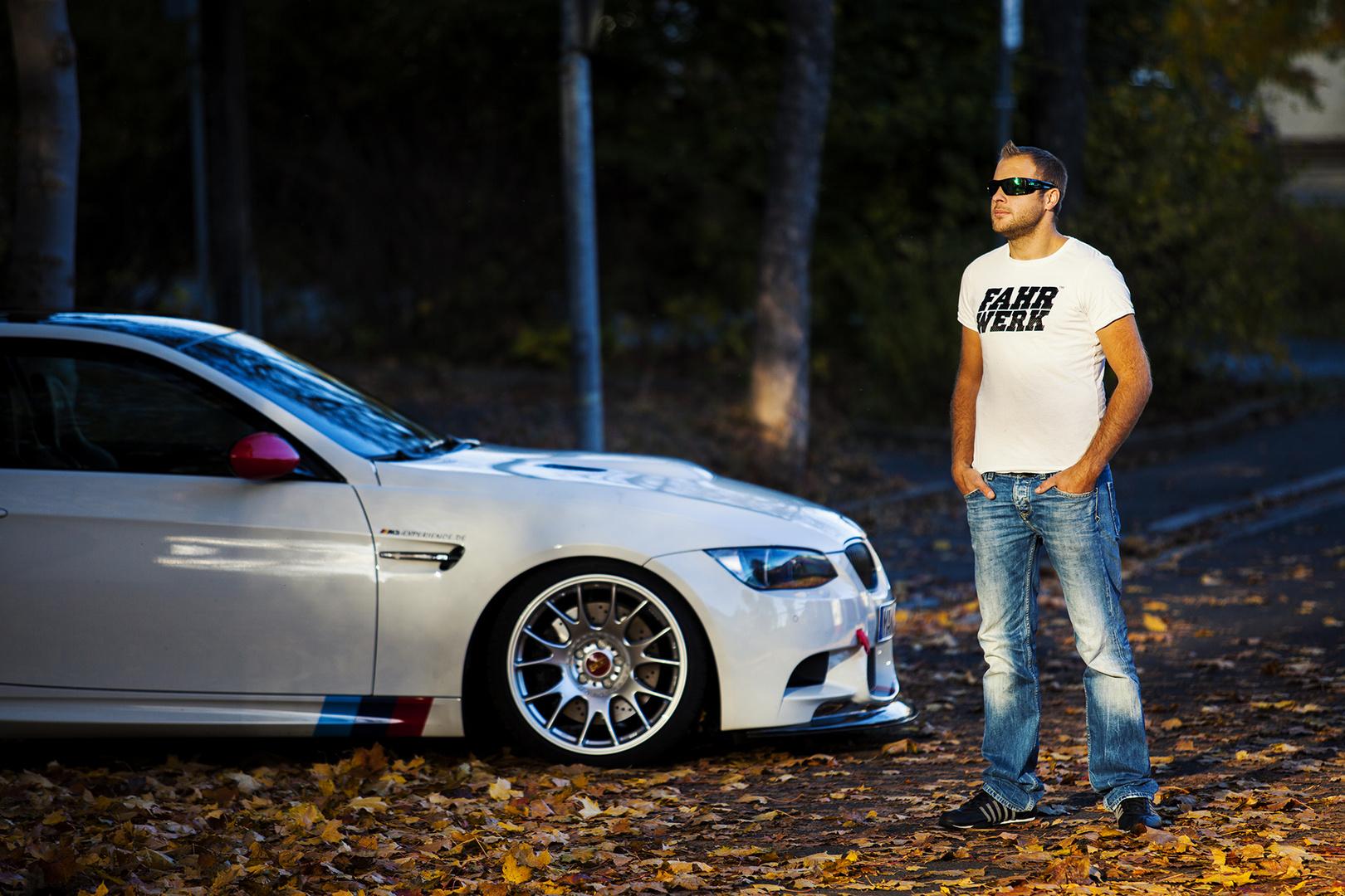 Fahrwerk T-Shirt und BMW E92 M3