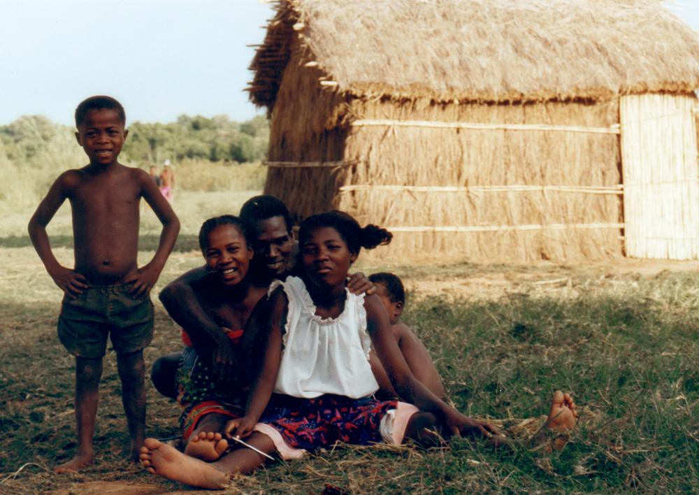 Familie am Tsiribihina Fluß