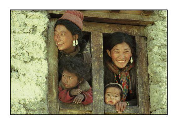 Familie aus dem Markha Valley, Indien