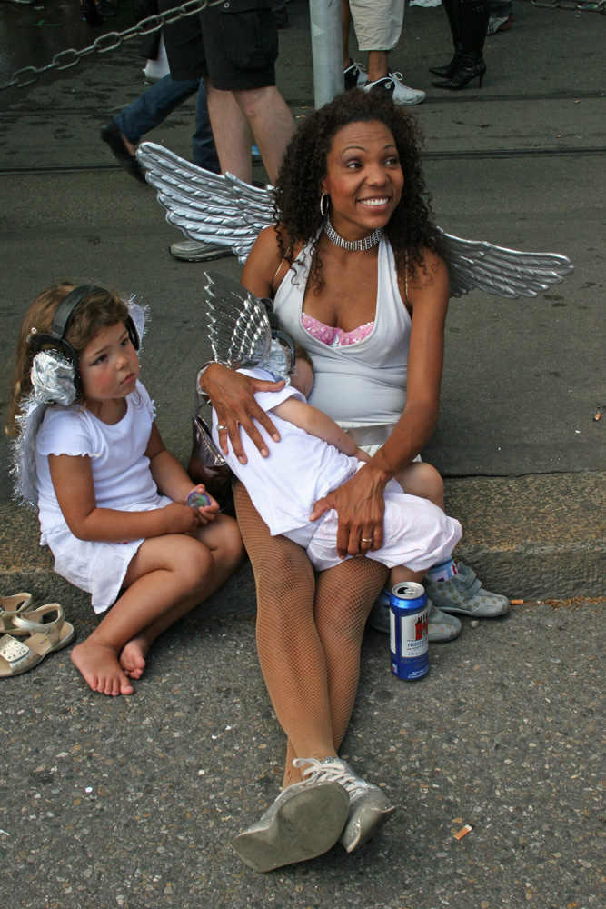 Familie Engel an der Streetparade