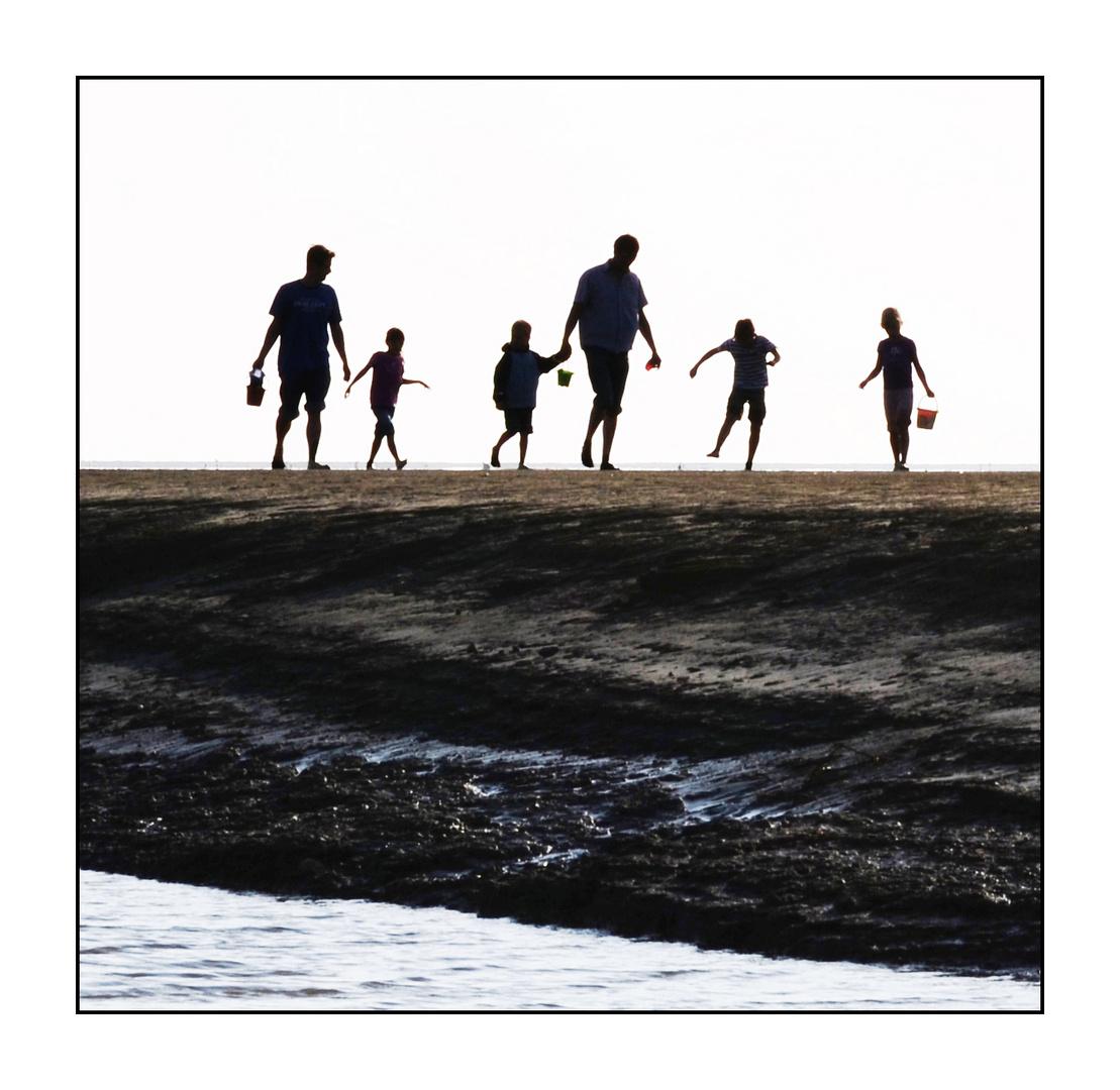 Familienausflug im Wattenmeer