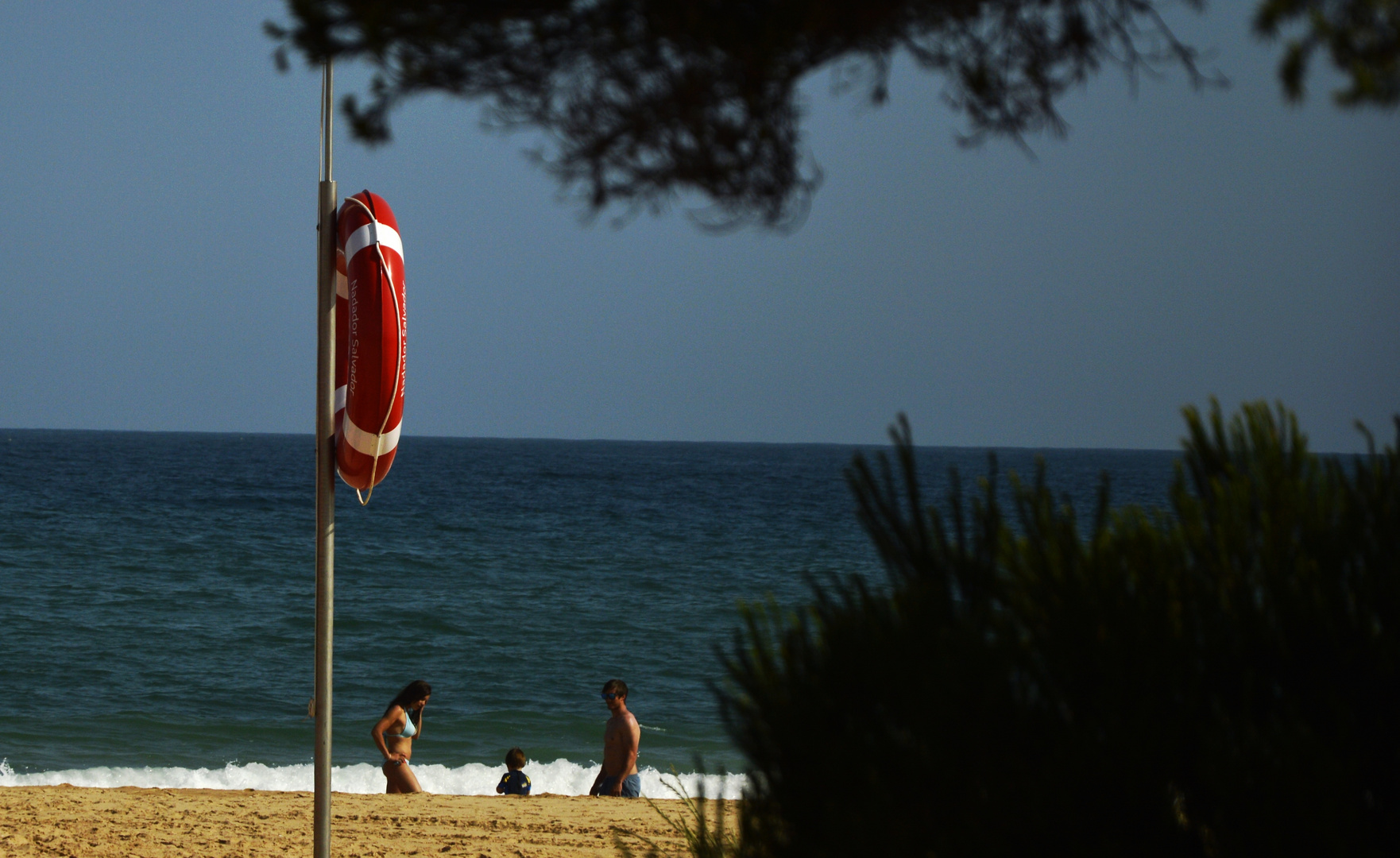 Familienstreit am Strand
