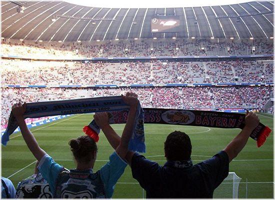 Fans in der Nordkurve der Allianz-Arena
