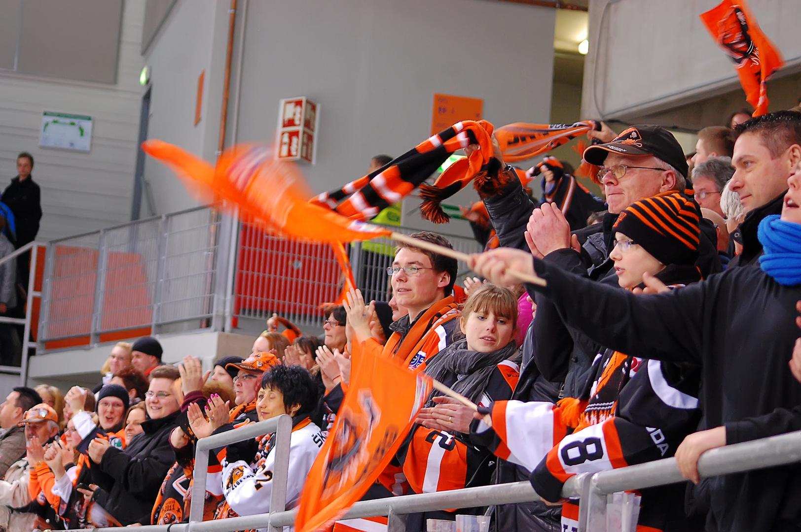 Fans vom EHC Wolfsburg, den Grizzly Adams