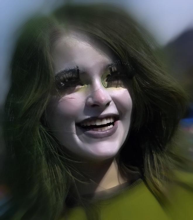 Farbe und ein nettes Lächeln ist fast alles im Leben ...