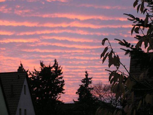 Farben am Abendhimmel