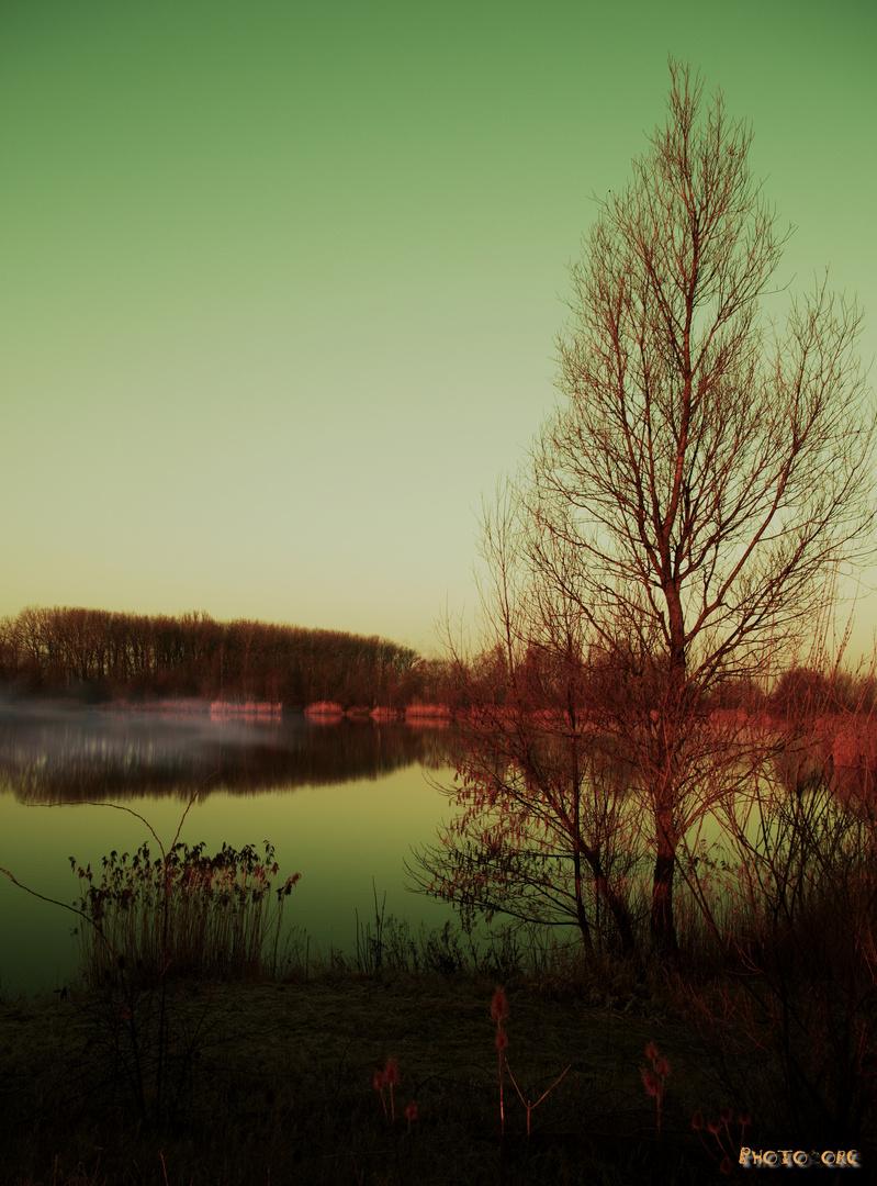 Farben eines Sonnenaufgangs