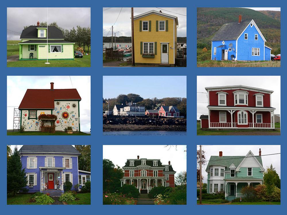 farben und formenvielfalt der kanadischen h user auf nova scotia foto bild north america. Black Bedroom Furniture Sets. Home Design Ideas