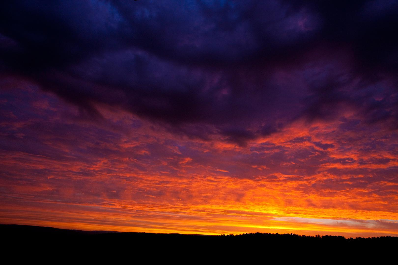 farbenfrohe Morgenröte