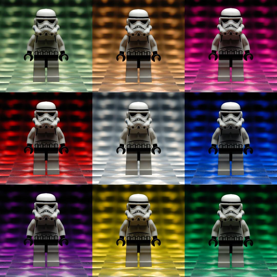 farbenfrohes stormtrooper dreimaldrei
