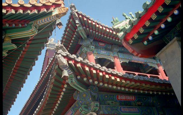 Farbenprächtige Dächer des Lamatempels, Peking
