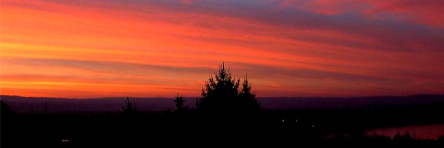 Farbenspiel am frühen Morgen