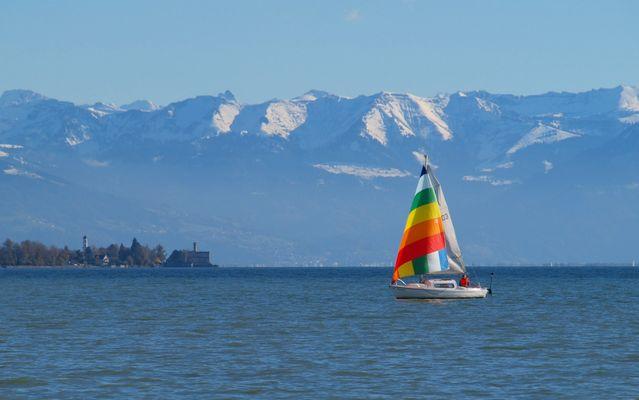 Farbenspiel auf dem Bodensee