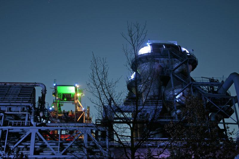 Farbenspiel im Industriepark Duisburg...