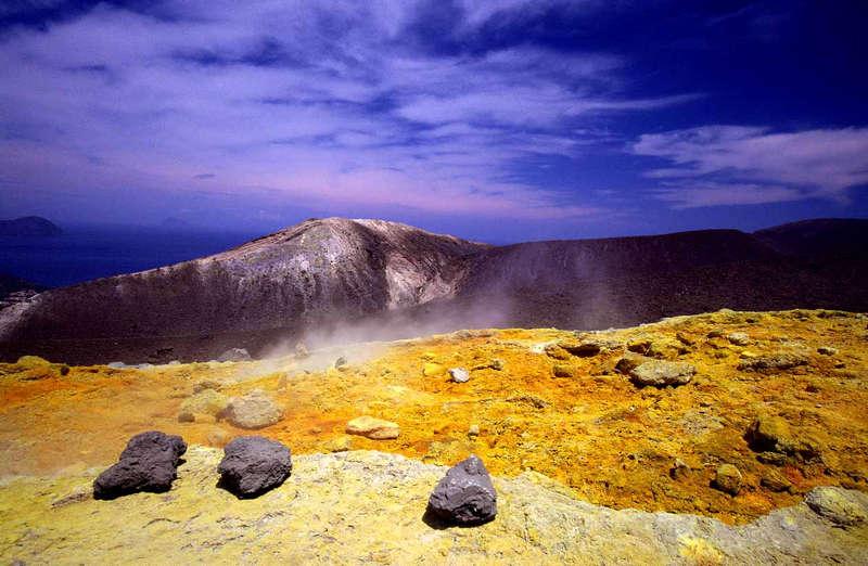 Farbenwelt auf dem Vulkan