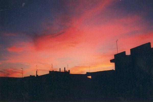 Farbgewaltig - Himmel über Licata (Sizilien 1999)