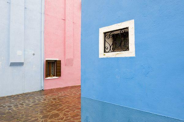 Farbige Häuser in Burano bei Venedig