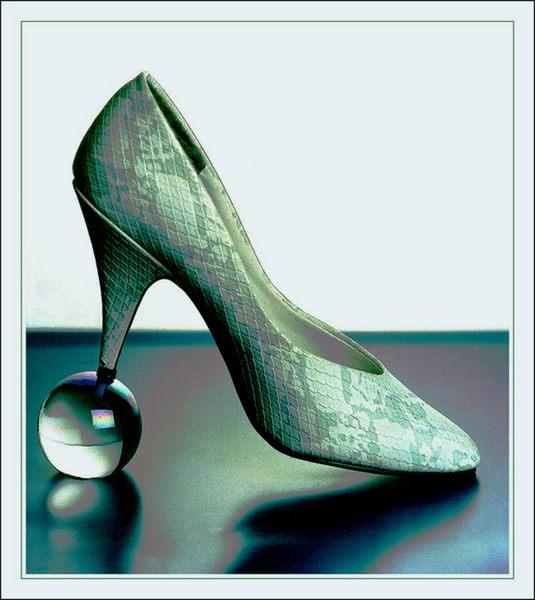 Farbiger Schuh