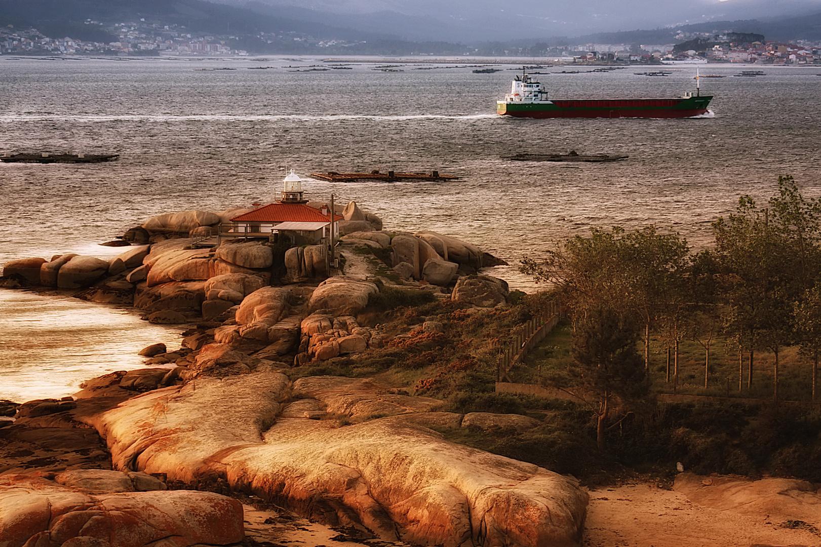 Faro a Illa de Arousa (DEDICADA A GOYO ALONSO)