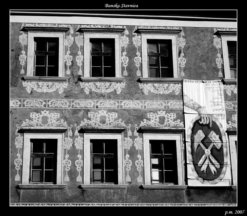 Fasada v Banske Stavnica - Slovensko