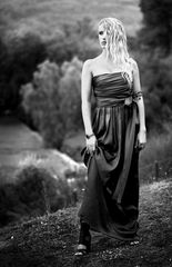 Fashion Una modella a Olimpia Grecia