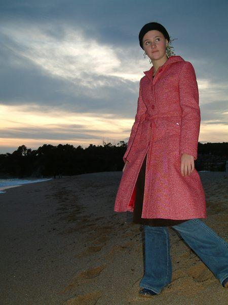 Fashion victim im sunset