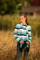 fashionable in wheat field