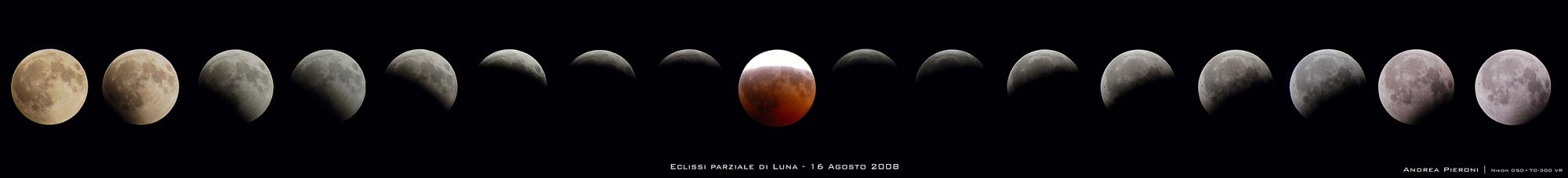 Fasi dell'eclissi lunare del 16 Agosto 2008