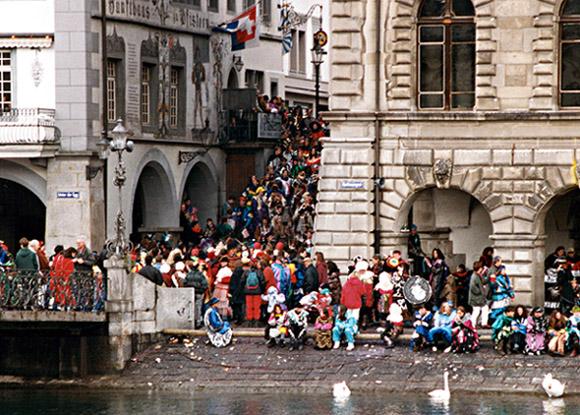 Fasnet in Luzern 1993, als im Gasthaus Pfistern wohl.....